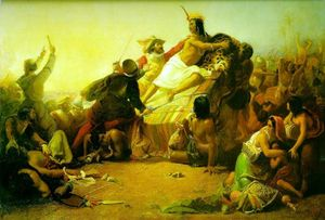 Pizarro Seizing the Inca of Peru by John Everett Millais