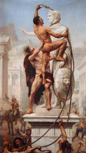 Sack of Rome by the Visigoths by JN Sylvestre 1890