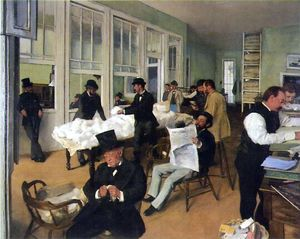 Bureau du coton à la Nouvelle-Orléans par Degas