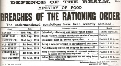 Breaches of the Rationing Order