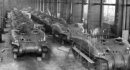 Shermans Being Built