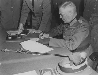 Keitel Signs the Instrument of German Surrender