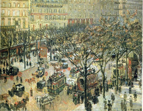 Boulevard Des Italiens Morning  Sunlight by Camille Pissarro