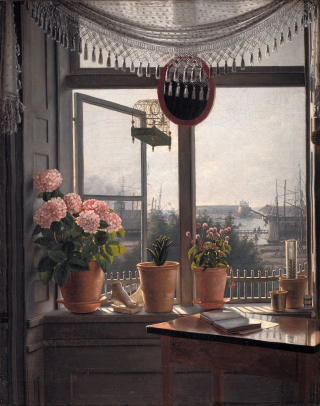 View from an Artist's Window by Martinus Rørbye