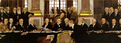 The Signing of Peace in the Hall of Mirrors by W Orpen