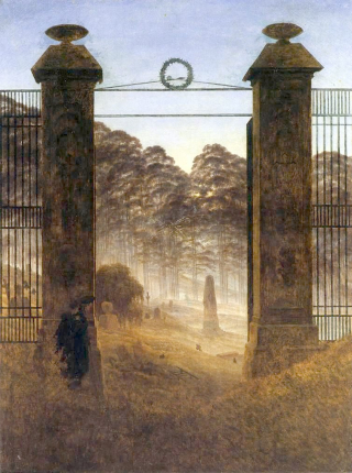 Cemetery Entrance by Friedrich
